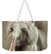 The Grey Horse Soft Pastel Weekender Tote Bag