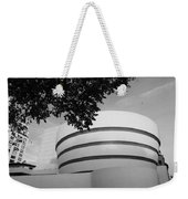 The Guggenheim Museum In Black And White Weekender Tote Bag