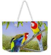 The Happy Couple - Eastern Rosellas  Weekender Tote Bag