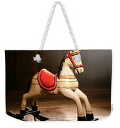 The Happy Little Rocking Horse In The Attic Weekender Tote Bag