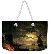 The Harbor Of Palermo Weekender Tote Bag by Claude Joseph Vernet