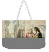 The Harem, Plate 1 From Illustrations Weekender Tote Bag by John Frederick Lewis