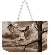 The Hawk Is Landing Weekender Tote Bag