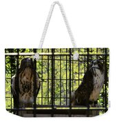 The Hawks From The Series The Imprint Of Man In Nature Weekender Tote Bag