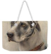 The Head Of A Doberman Weekender Tote Bag