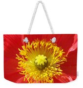 The Heart Of A Red Poppy Weekender Tote Bag