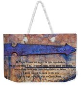 The High Calling Of God In Christ Jesus Weekender Tote Bag