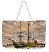 The Hms Bounty Weekender Tote Bag by Debra and Dave Vanderlaan