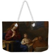The Holy Family In Egypt Weekender Tote Bag
