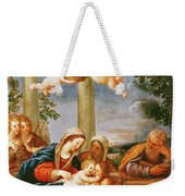 The Holy Family With St. Elizabeth And St. John The Baptist, C.1645-50 Oil On Copper Weekender Tote Bag