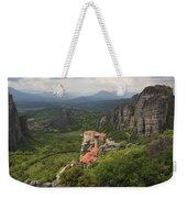 The Holy Monastery Of Rousanou Meteora Greece  Weekender Tote Bag