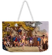 The Hopping Match On Clapham Common Weekender Tote Bag