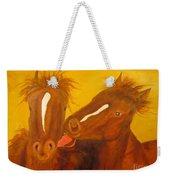 The Horse Kiss - Original Oil Painting Weekender Tote Bag