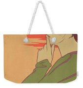 The Hour Of Silence Weekender Tote Bag by Henri Georges Jean Isidore Meunier