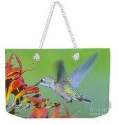 The Humming Bird Sips  Weekender Tote Bag by Jeff Swan