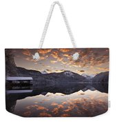 The Hut By The Lake Weekender Tote Bag