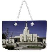 The Idaho Falls Mormon Temple Weekender Tote Bag