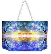 The Illusion Benches Weekender Tote Bag