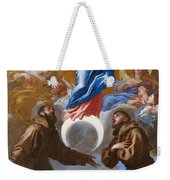 The Immaculate Conception With Saints Francis Of Assisi And Anthony Of Padua Weekender Tote Bag