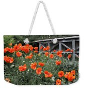 The Inspiration Of Orange Poppies Weekender Tote Bag