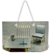 The Interior Design Of A Gray Living Room Weekender Tote Bag