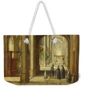 The Interior Of A Gothic Church Looking East Weekender Tote Bag