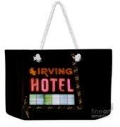 The Irving Hotel Vintage Sign Weekender Tote Bag