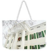 The Jay House At Christmas Weekender Tote Bag