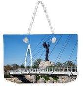 The Keeper Of The Plains In Wichita Weekender Tote Bag