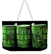 The Keg Room 3 Green Barrels Old English Hunter Green Weekender Tote Bag