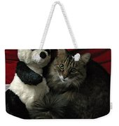 The King Kitty And Panda 01 Weekender Tote Bag