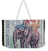 The King's Elephant Vintage Postage Stamp Print Weekender Tote Bag