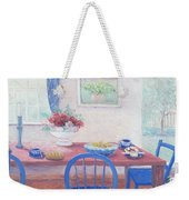 The Kitchen Table Laid For Lunch Weekender Tote Bag