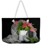 The Lace Veil  Weekender Tote Bag by Diana Angstadt