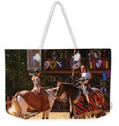 The Lady And The Knight Weekender Tote Bag