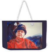 The Lady In Red Weekender Tote Bag by Kathy Braud