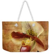 The Lady Slipper Orchid Weekender Tote Bag