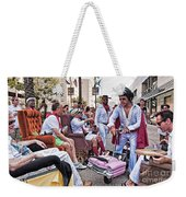 The Laissez Boys At Running Of The Bulls In New Orleans Weekender Tote Bag
