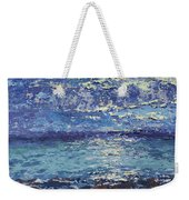 The Lake On A Cloudy Day In October Weekender Tote Bag