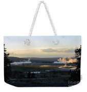 The Land Of Geysers. Yellowstone Weekender Tote Bag