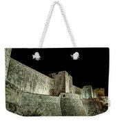 The Landside Walls Of Dubrovnik At Night No1 Weekender Tote Bag