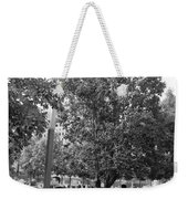 The Last Living Thing Pulled From The Rubble... The Survivor Tree In Black And White Weekender Tote Bag