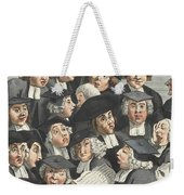 The Lecture, Illustration From Hogarth Weekender Tote Bag