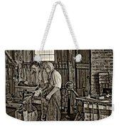 The Lesson Sepia Weekender Tote Bag by Steve Harrington