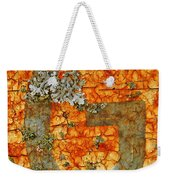 The Letter G With Lichens Weekender Tote Bag