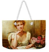 The Letter  Weekender Tote Bag by George Goodwin Kilburne