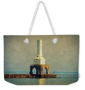 The Lighthouse And The Fisherman Weekender Tote Bag
