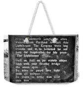 The Lighthouse Poem Weekender Tote Bag