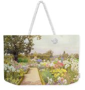 The Lily Border At Great Tangley Manor Weekender Tote Bag