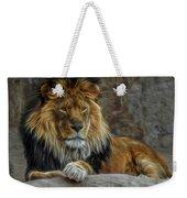 The Lion Digital Art Weekender Tote Bag